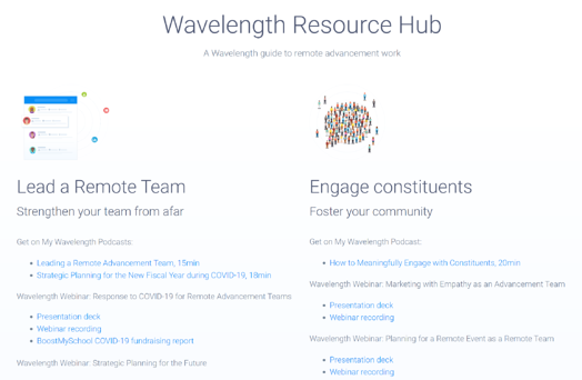 Wavelength Resource Hub Photo